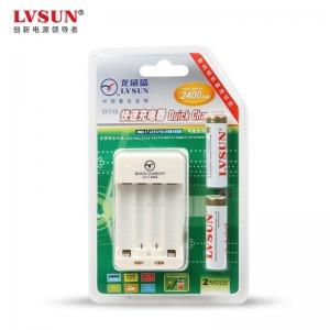 掌中宝充电器LB2A24+2节5号2400MAH的镍氢电池