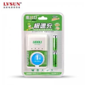 极速充电器U4A225+2颗2500mAh低自放电五号电池