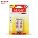1800mAh5号镍氢充电电池B2A18两颗装