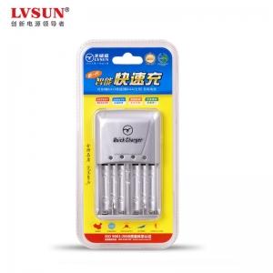 智能快速充电器LCAA6 可充4颗五号和2颗七号电池